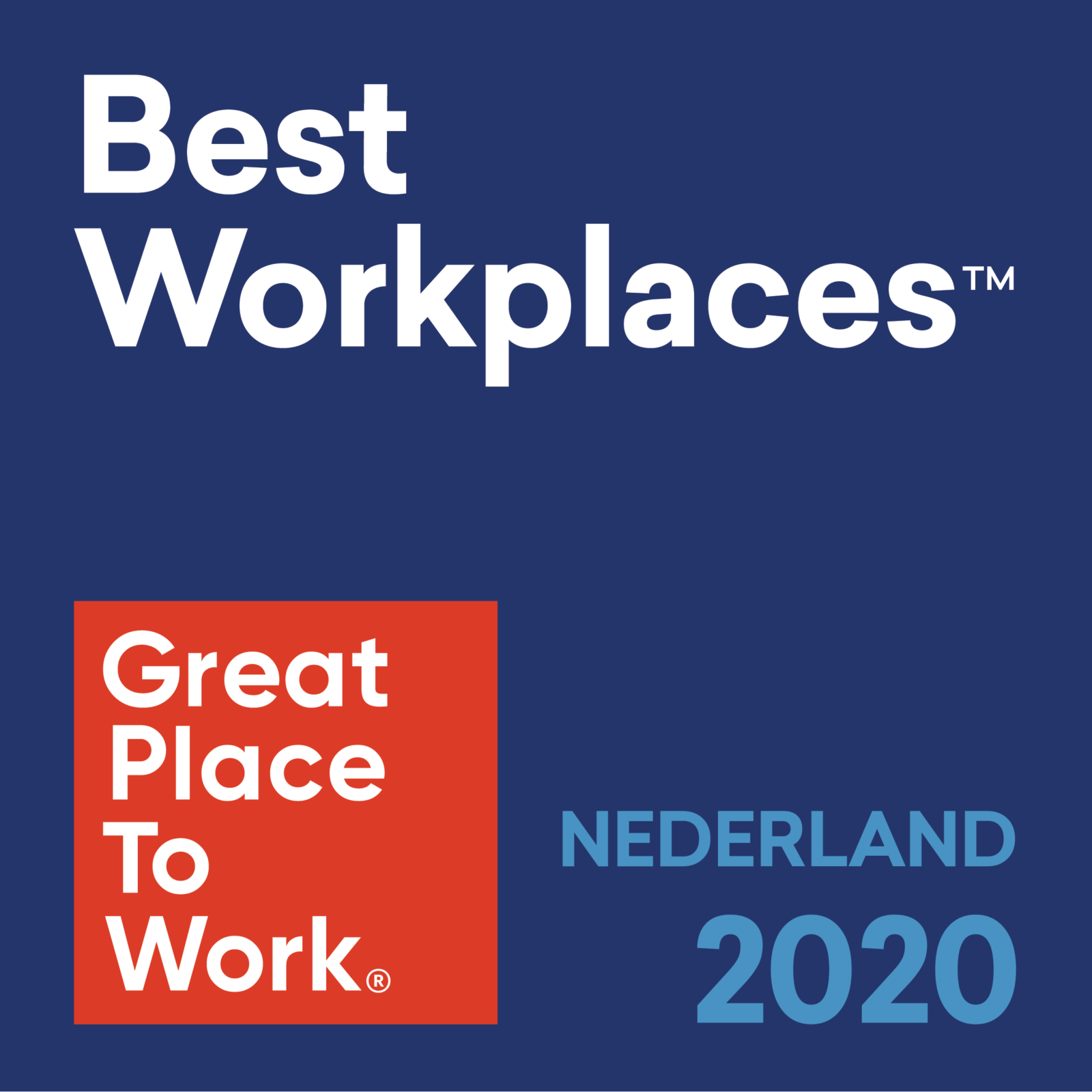 Great place to work certified; 2020